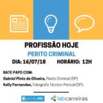 DIA  272F112F17 HORÁRIO  20H 3 150x150 - Profissão Hoje: Perito e Fotógrafo Criminal