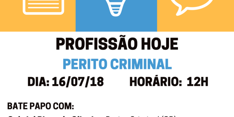 DIA  272F112F17 HORÁRIO  20H 3 750x375 - Profissão Hoje: Perito e Fotógrafo Criminal
